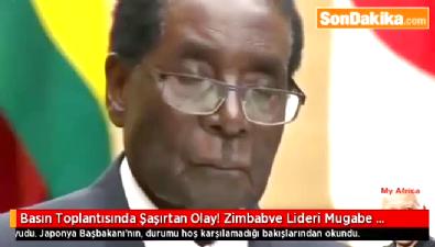 Zimbabve Lideri Mugabe Ayakta Uyudu