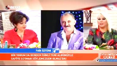 Safiye Soyman canlı yayında Faik Öztürk'ün hastanede olduğunu öğrendi