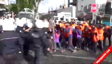Taksim'e çıkmaya çalışan gruba müdahale