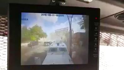 İşte Gaziantep Emniyet Müdürlüğü'ne saldırı anı...