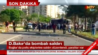 Diyarbakır Bağlar'da Polise Bombalı Saldırı! Çok Sayıda Yaralı Var