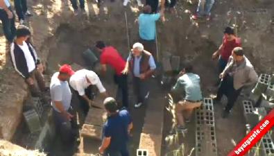 Cenazeleri tespit edilen köylülerin mezarları hazırlandı