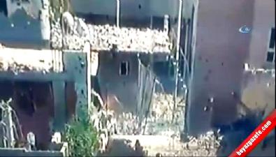 Teröristlerin kaçış anı kameraya yansıdı