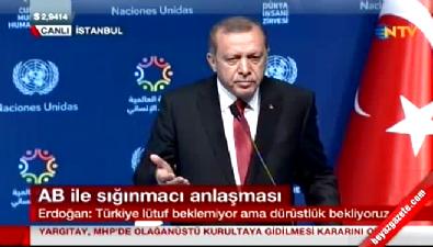 Erdoğan'dan vize resti: Bize kriter dayatmasınlar