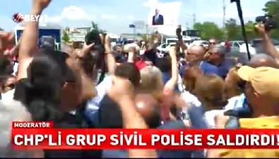 CHP'li grup polise saldırdı