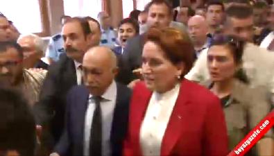 Akşener'in korumaları ile basın mensupları arasında tartışma yaşandı