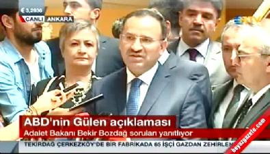 Bekir Bozdağ'dan ABD'ye 'Fethullah Gülen' yanıtı