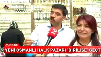 Yeni Osmanlı Halk Pazarı'na yoğun ilgi
