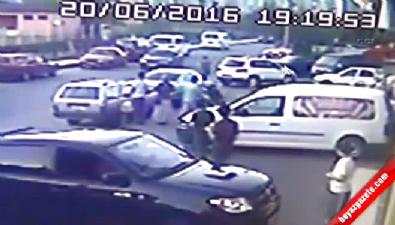 Kızgın sürücü polisi metrelerce sürükledi