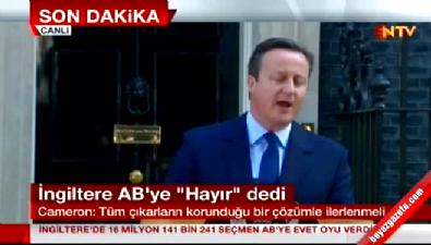 İngiltere Başbakanı Cameron istifa etti