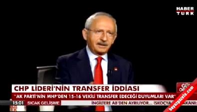 Kılıçdaroğlu'ndan 'transfer' iddiası
