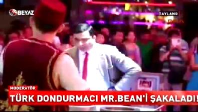 Türk dondurmacı Mr Bean'i şakaladı