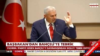 Başbakan Yıldırım Bahçeli'yi tebrik etti