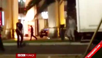 Nice'te saldırganın öldürüldüğü çatışma anları!