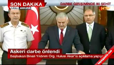 Başbakan Binali Yıldırım: 161 şehit, 1440 yaralı, 2839 kişi gözaltında
