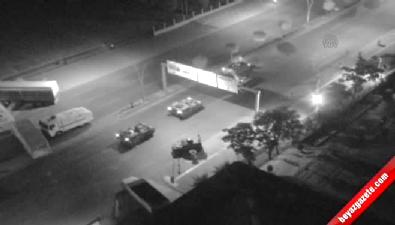 Vatandaşların tankların önüne vurulma anı (Mobese Kamerası)