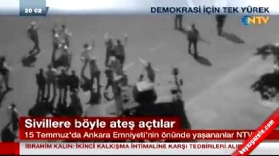 ankara emniyet mudurlugu - 15 Temmuz Gecesi Ankara Emniyet Müdürlüğü'nün önünde dehşet verici anlar