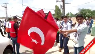 Türkiye'nin yardımları Gazze'de coşkuyla karşılandı