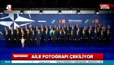 Cumhurbaşkanı Erdoğan, NATO Zirvesi'nde aile fotoğrafında
