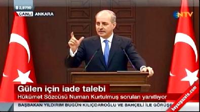 bakanlar kurulu toplantisi - Kurtulmuş: Bu caniyi Türkiye'ye vermek ABD'nin vazifesi