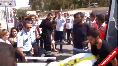 Taksim Metrosu yürüyen merdivenlerinde korkunç kaza!