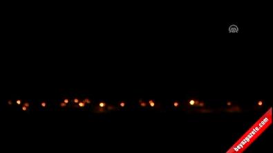 Cerablus'taki terör örgütü DAEŞ unsurlarına yoğun top atışları yapılıyor