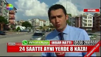 Ankara Altındağ'da aynı yerde 24 saatte 8 trafik kazası meydana geldi!