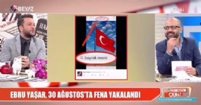Ebru Yaşar'ın bayrak paylaşımı olay oldu!