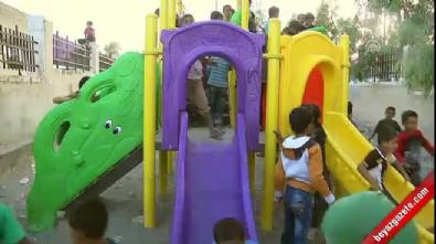 Cerabluslu çocukların park heyecanı