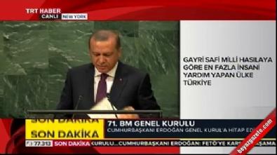 Cumhurbaşkanı Erdoğan BM'de alkışlandı