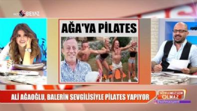 Ali Ağaoğlu balerin sevgilisiyle pilates yapıyor