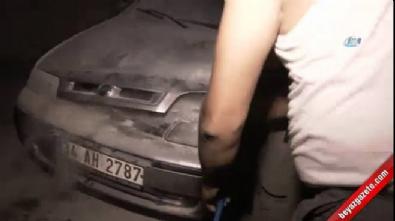 Araç kundaklayan terörist yakalandı