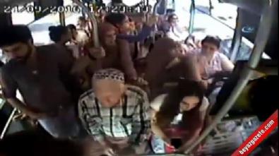Halk otobüsünde bıçaklama kameralara yansıdı Haberi