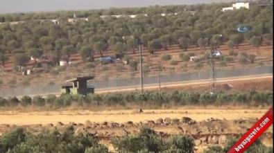 Zırhlı araçlar Suriye'ye geçti
