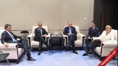 Cumhurbaşkanı Erdoğan, AB liderleriyle dörtlü zirve gerçekleştirdi