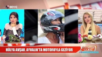 Hülya Avşar'ın motor keyfi objektiflere böyle yansıdı