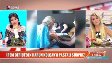 İrem Derici'den Harun Kolçak'a pastalı sürpriz!