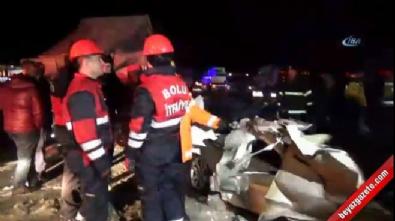 Bolu D-100 karayolu üzerinde feci kaza: 2 ölü