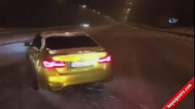 Trafik magandası kar kış dinlemedi