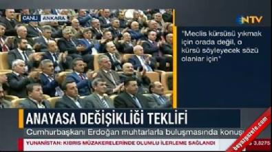 Cumhurbaşkanı Erdoğan'dan Meclis'teki kavgaya ilişkin açıklama
