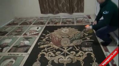 Osmanlı padişahlarının mozaik tablosunu yaptı