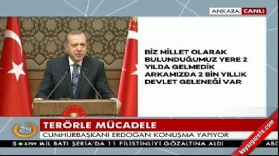 Cumhurbaşkanı Erdoğan muhtarlara seslendi...
