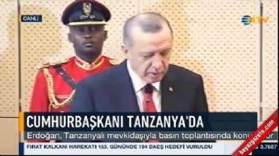 Cumhurbaşkanı Erdoğan ve Magufuli ortak basın toplantısı düzenledi