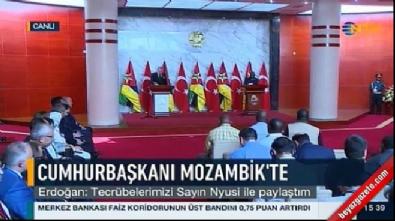 Cumhurbaşkanı Erdoğan Mozambik'te konuştu