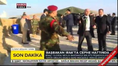 Başbakan Yıldırım Peşmerge güçlerinin yer aldığı cepheyi ziyaret etti