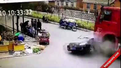 Çin'de kamyon dehşet saçtı