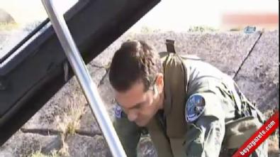 Yunan Başbakanı F16 ile uçtu