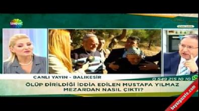 Defnedildikten sonra köyüne dönen Mustafa Yılmaz canlı yayında