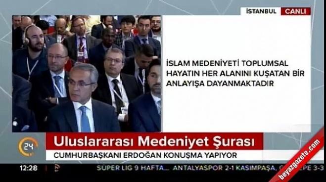 recep tayyip erdogan - Cumhurbaşkanı Erdoğan Uluslararası Medeniyet Şurası'nda konuştu