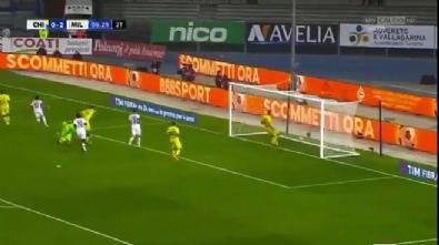 Hakan Çalhanoğlu'nun Milan formasıyla ligde attığı ilk gol